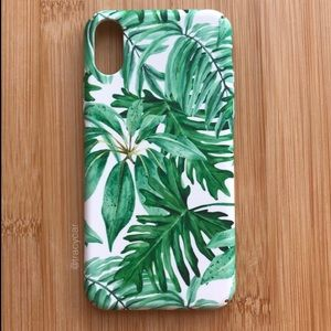 Accessories - NEW Iphone X Tropical Leaves Summer Case